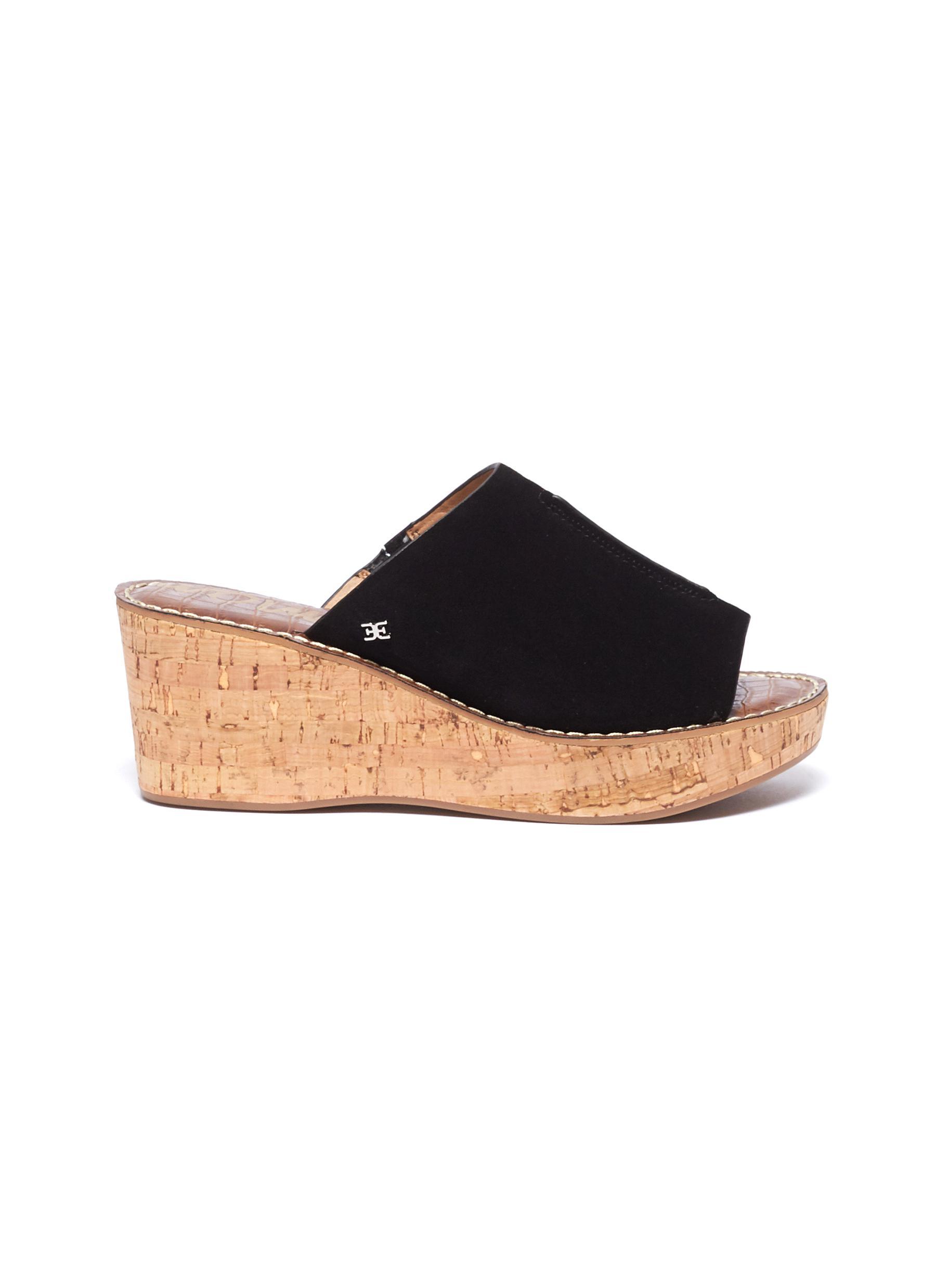 cce777d7b9e Sam Edelman.  Ranger  suede cork wedge sandals