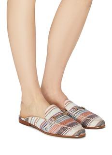 Sam Edelman 'Linnie' stripe tweed loafer slides