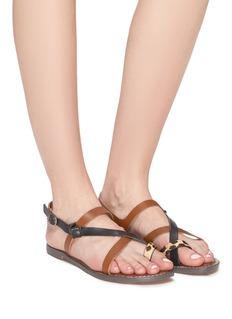 Sam Edelman 'Gladis' mix print strappy leather slingback sandals