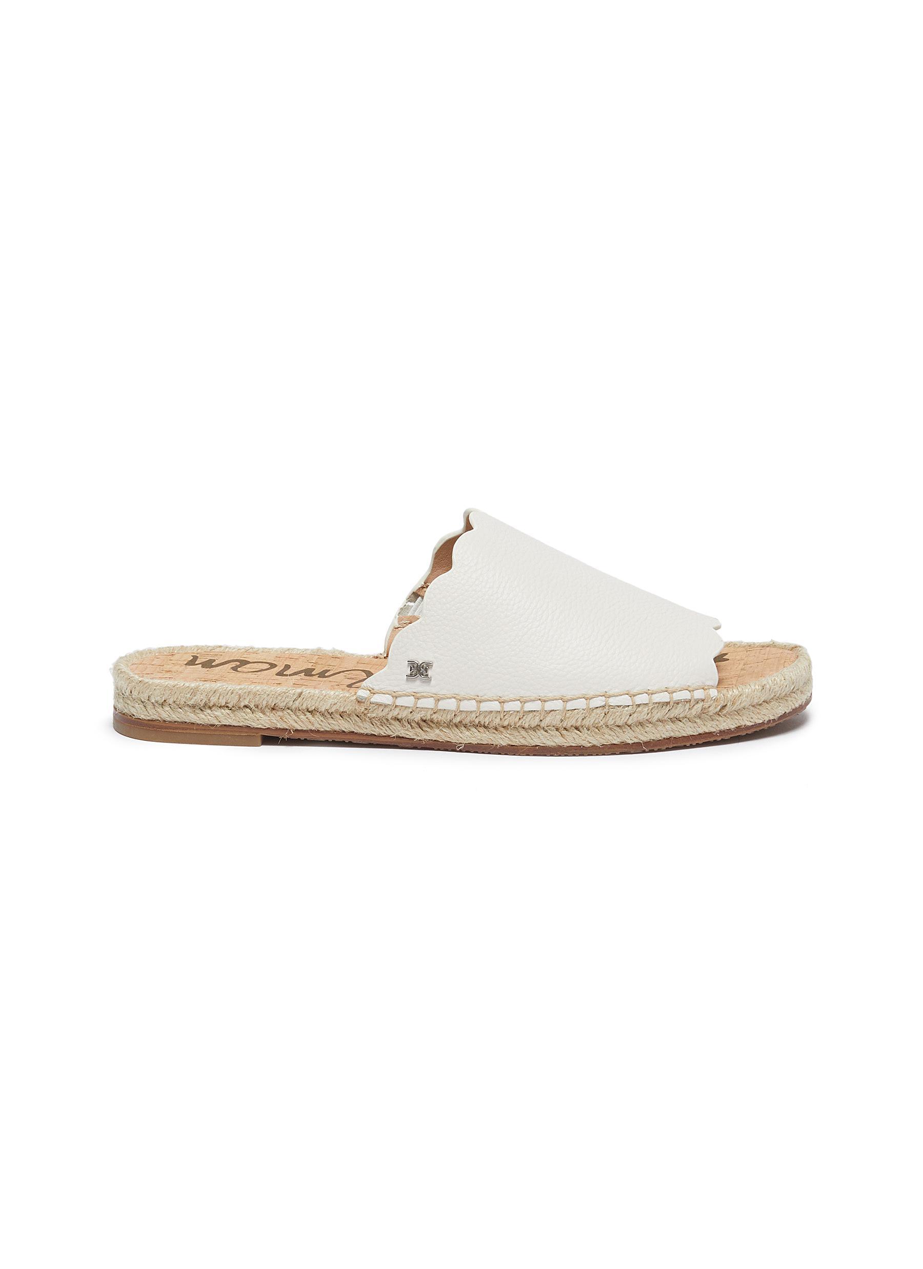 31f2d34f9f39 Sam Edelman.  Andy  scalloped leather espadrille slide sandals