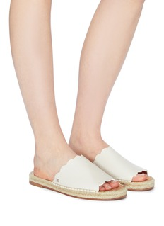 Sam Edelman 'Andy' scalloped leather espadrille slide sandals