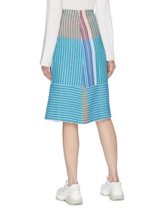 Back View - Click To Enlarge - FFIXXED STUDIOS - Fringe colourblock stripe woven skirt