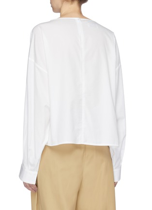 Back View - Click To Enlarge - FFIXXED STUDIOS - Panelled poplin boat neck top