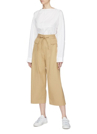 Figure View - Click To Enlarge - FFIXXED STUDIOS - Panelled poplin boat neck top