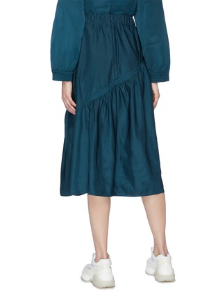 Back View - Click To Enlarge - FFIXXED STUDIOS - Asymmetric panelled midi skirt