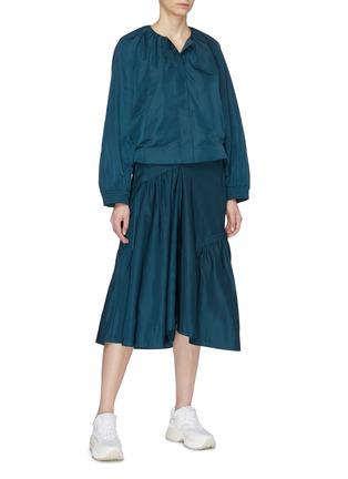 Figure View - Click To Enlarge - FFIXXED STUDIOS - Asymmetric panelled midi skirt