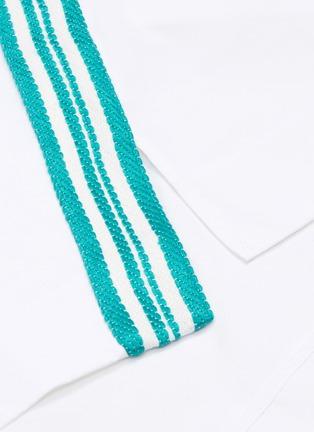 - FFIXXED STUDIOS - Embroidered stripe border twist front oversized top