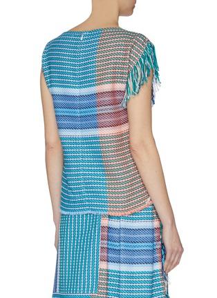 Back View - Click To Enlarge - FFIXXED STUDIOS - Fringe edge stripe colourblock top