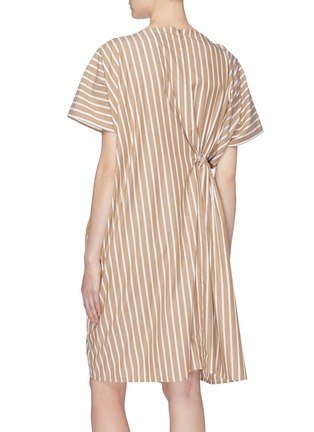 Back View - Click To Enlarge - FFIXXED STUDIOS - Asymmetric ruched drawstring stripe dress