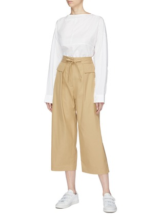 Figure View - Click To Enlarge - FFIXXED STUDIOS - Twill wide leg drawstring pants