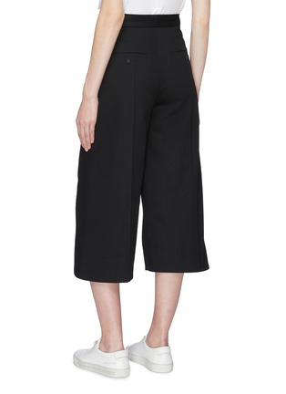 Back View - Click To Enlarge - FFIXXED STUDIOS - Pintuck twill culottes