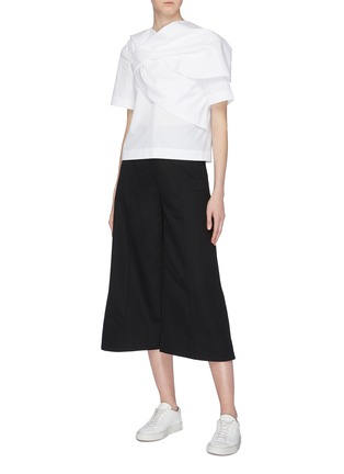 Figure View - Click To Enlarge - FFIXXED STUDIOS - Pintuck twill culottes