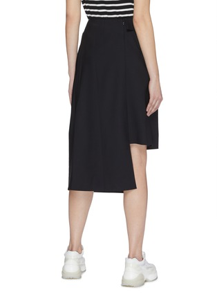 Back View - Click To Enlarge - FFIXXED STUDIOS - Ruched pleated wool asymmetric skirt