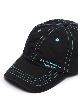 Detail View - Click To Enlarge - ACNE STUDIOS - Logo embroidered baseball cap