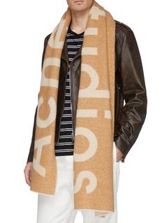 Acne Studios Logo jacquard wool blend scarf
