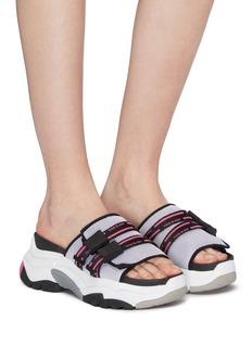 ASH 'Ace' chunky outsole logo band mesh slide sandals
