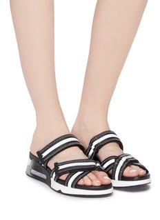 ASH 'Logan' reflective stripe strappy sandals