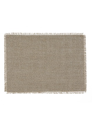 Main View - Click To Enlarge - Chilewich - Market Fringe small floormat –Sisal