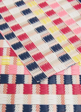 Detail View - Click To Enlarge - CHILEWICH - Heddle placemat –Pansy