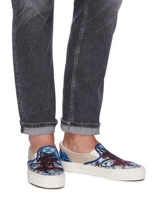 Figure View - Click To Enlarge - VANS - x Ralph Steadman 'Classic Slip-On' paint splatter checkerboard canvas skates