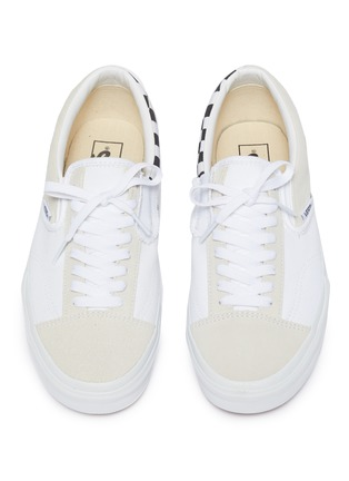Detail View - Click To Enlarge - VANS - 'Slip-on Cap' checkerboard patchwork canvas sneakers