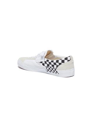 - VANS - 'Slip-on Cap' checkerboard patchwork canvas sneakers