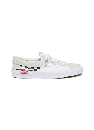 Main View - Click To Enlarge - VANS - 'Slip-on Cap' checkerboard patchwork canvas sneakers