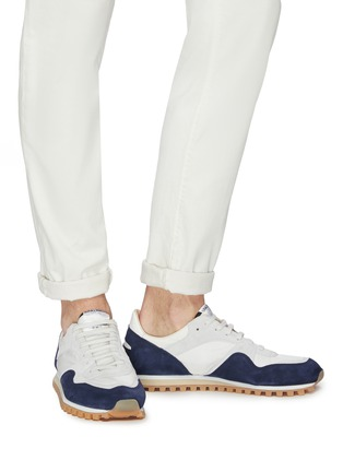 Figure View - Click To Enlarge - Spalwart - 'Marathon Trail Low' suede panel sneakers