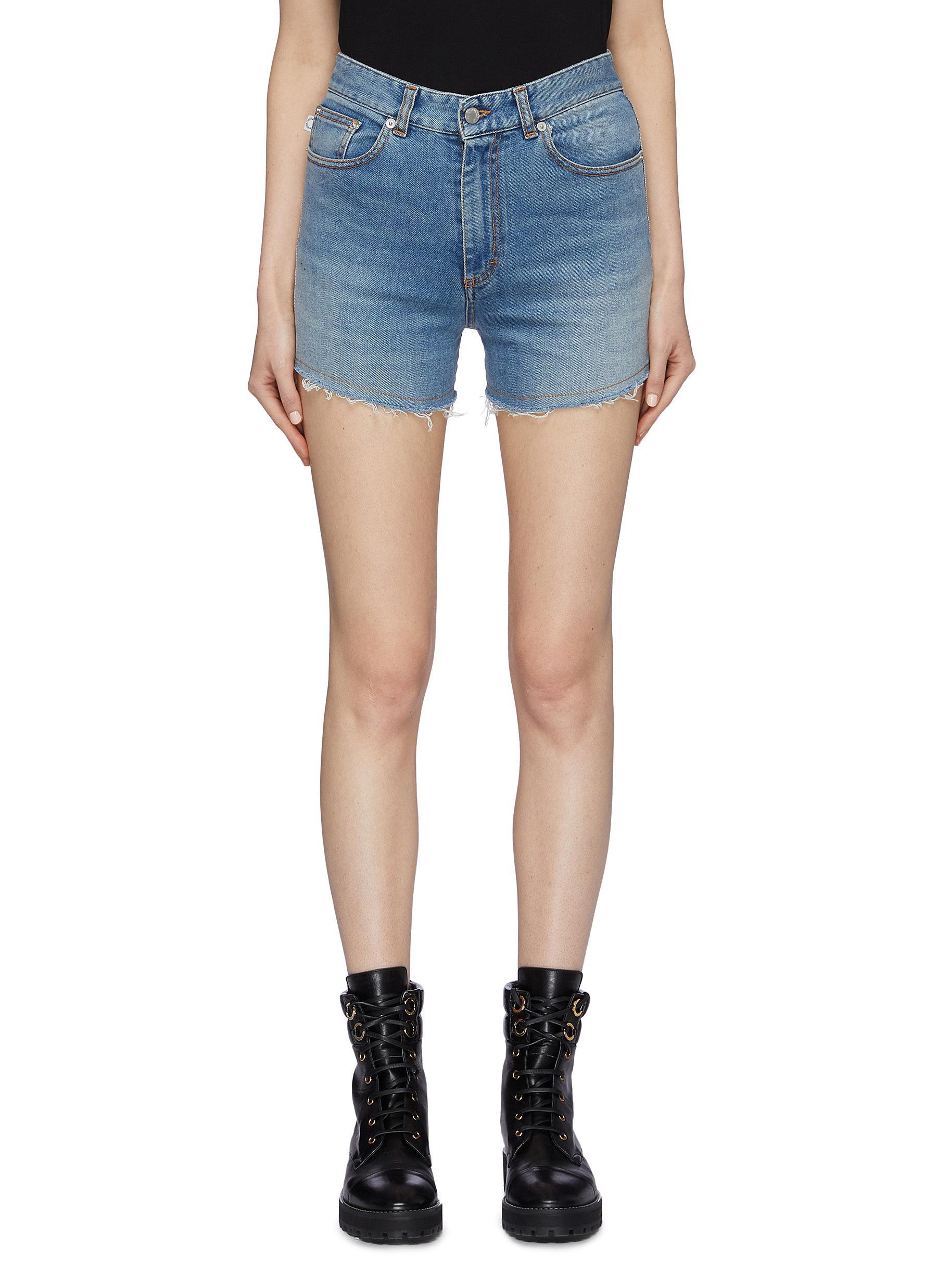 Fiorucci Shorts Lemon angel appliqué denim shorts