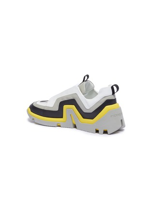 - PIERRE HARDY - 'Vibe' wavy panel leather sneakers