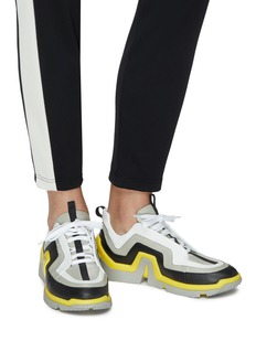 Pierre Hardy 'Vibe' wavy panel leather sneakers