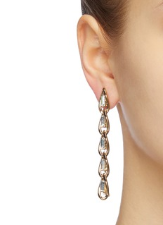 Rosantica 'Slim' glass crystal link chain drop earrings