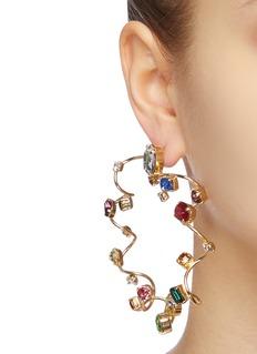 Rosantica 'Mistero' glass crystal sculptural hoop earrings