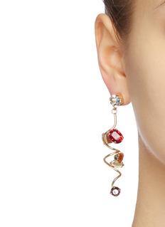 Rosantica 'Mistero' glass crystal swirl drop earrings