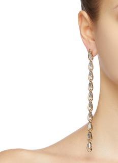 Rosantica 'Slim' glass crystal long link chain drop earrings