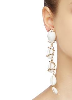 Rosantica 'Beatrix' seashell link drop clip earrings