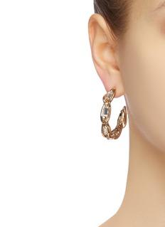 Rosantica 'Slim' glass crystal link chain hoop earrings