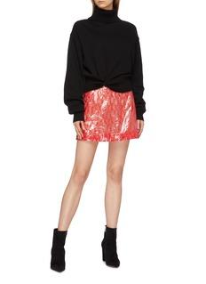 Christopher Kane Coated lace mini skirt