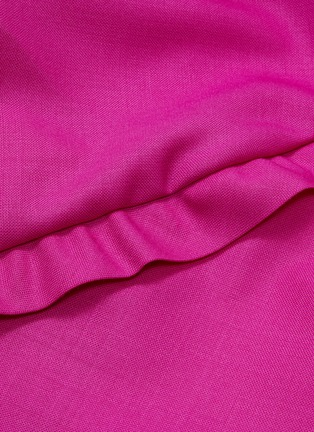 - JACQUEMUS - 'La robe Rosa' asymmetric tiered wool halterneck dress