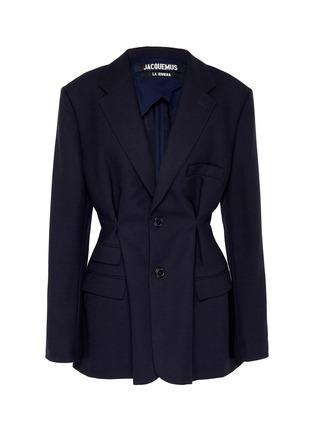 Main View - Click To Enlarge - JACQUEMUS - 'La veste Raffaella' darted wool blazer