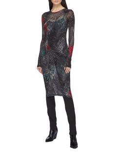 Yohji Yamamoto Mix rose print dress