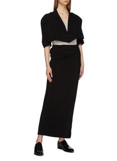 Yohji Yamamoto Peaked lapel cropped blazer