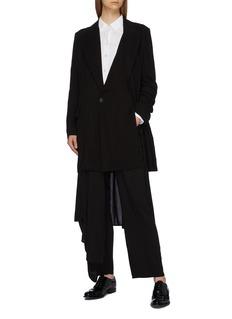 Yohji Yamamoto Layered panel peaked lapel long blazer