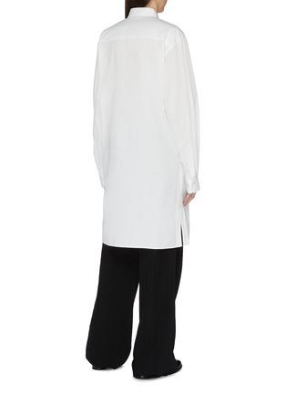 Back View - Click To Enlarge - Yohji Yamamoto - Smoke print long shirt