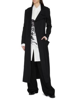 Figure View - Click To Enlarge - Yohji Yamamoto - Smoke print long shirt