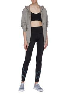 Beyond Yoga Stripe cuff performance midi leggings