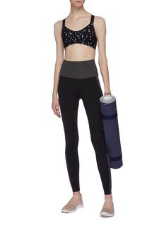 Beyond Yoga 'Block Out' colourblock performance midi leggings