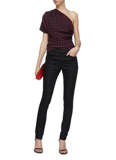 SAINT LAURENT Star appliqué skinny jeans