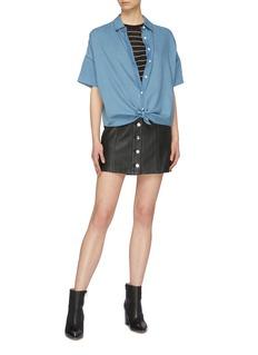 rag & bone/JEAN 'Rosie' button front leather skirt