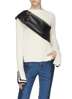 KARA 'Shirt Waist' tie leather bum bag